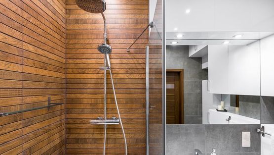A stylish shower